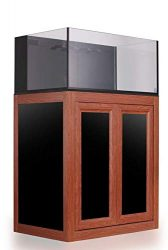 innovative marine nuvo 75 gallon aquarium wood finish